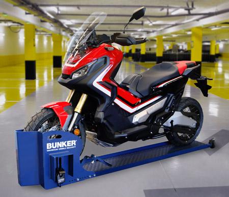 Motorcycle scooter parking security lock - Antirrobo moto garaje ...