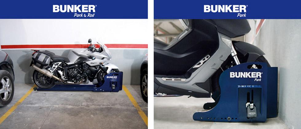 Bunker motorcycle scooter parking security lock - Antirrobo moto garaje ...