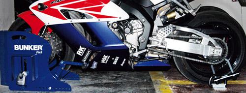 Por que motorcycle scooter parking security lock - Antirrobo moto garaje ...